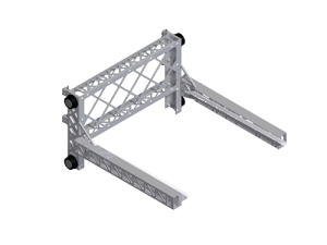 This trolley was designed to be very tall because it would carry a great amount of weight that would want to pull the mechanism out of the ladder. Making the piece longer gives more stability but in turn becomes a heavier piece.